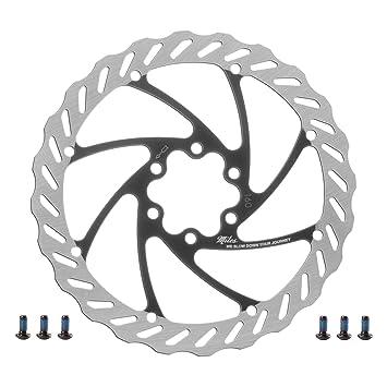 semi metallischen und gesinterten Scheibenbremsbel/ägen Miles Racing Fahrrad Bremsscheibe aus Edelstahl f/ür die Verwendung von organischen