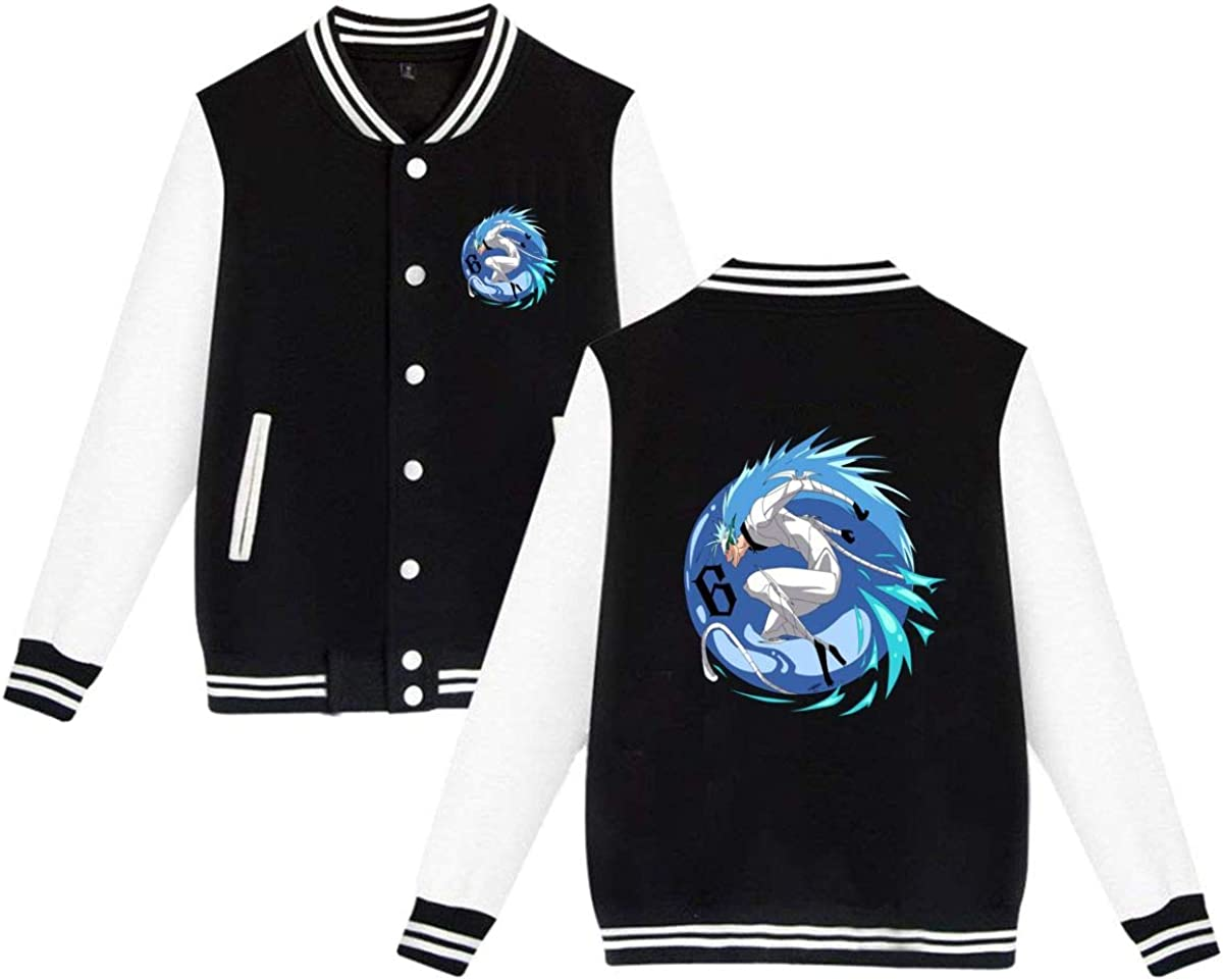 FVVC Bleach Grimmjow Jaegerjaquez Baseball Uniform Unisex 3D Anime Double-Sided Printed Sports Jacket