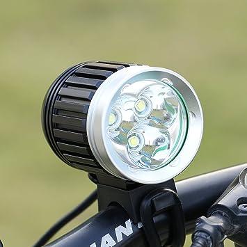 GHB Faros Delanteros de Bicicletas 3 x LED Luces Linternas ...