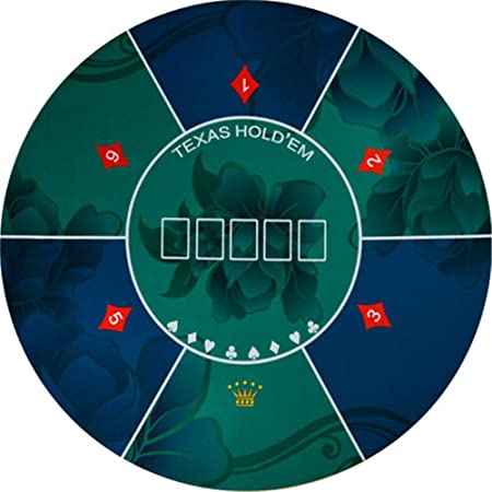LULUVicky Tapetes de Poker Texas Hold Em la Estera de Tabla Portable Redonda de Goma de