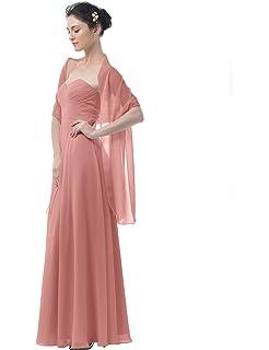 Topwedding Chiffon Bridal Wedding Shawl Wrap Womens Evening Dress Stole Scarves