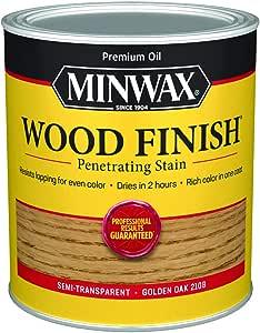 Minwax 70001444 Wood Finish Penetrating  Stain, quart, Golden Oak