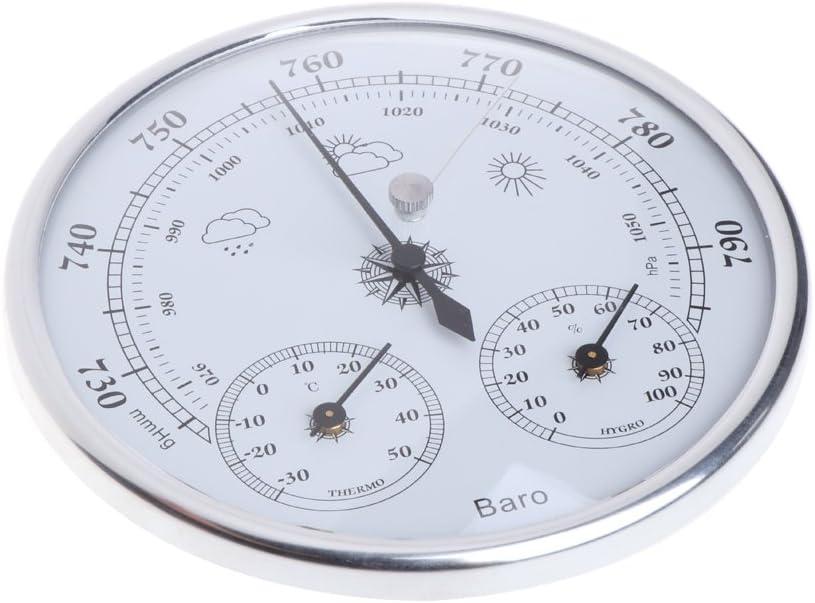 Wandbehang Haushaltsthermometer Hygrometer -30~50 ℃; 0~100/% RH; 970~1050hPa lailongp Haushaltswetterstation Barometer