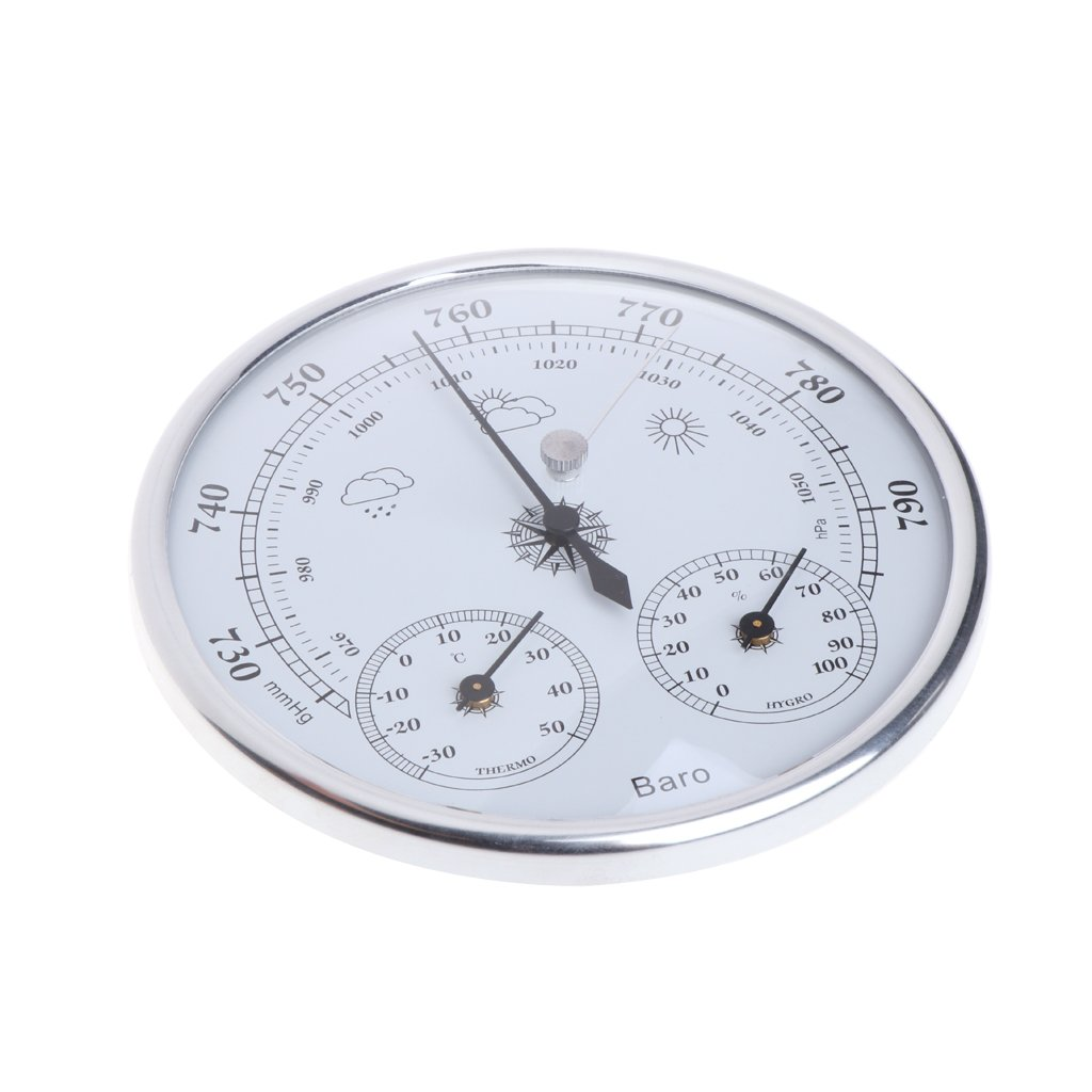 Hacloser Household Weather Station 3 in 1 Barometer Thermometer Hygrometer Wall Hanging by Hacloser (Image #2)
