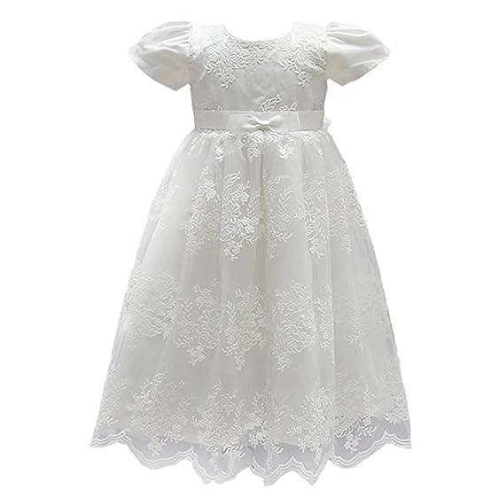 Amazon.com: ADHS Infant Newborn Kids Baby Girls Flower Wedding Gowns ...