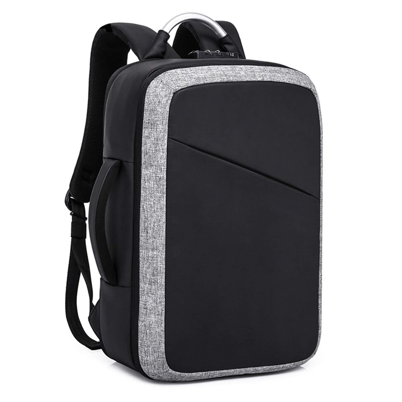 ノートパソコンのバックパック ビジネス レジャーバッグ USB充電ポート付き レディーコンピュータバックパック 盗難防止 パスワードロック 大容量バックパック メンズトラベルバックパック ハンドバッグ  A B07H2WLBZM