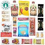 Healthy Vegan Snacks Care Package: Natural, Organic, Non-GMO, Vegan Protein Bars, Cookies, Fruit Snacks, Vegan Jerky, Nuts, Premium Vegan Assortment Gift Box