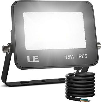 LE Foco LED de 15W, 1500 lúmenes, IP65 resistente al agua, Foco ...