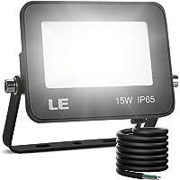 LE Foco LED de 15W, 1500 lúmenes, IP65 resistente al agua, Foco LED Exterior, Blanco Frío 5000 K, Ángulo de haz 120…