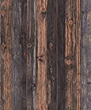 Blooming Wall Faux Vintage Barnwood Wood Wallpaper Rolls Wood Panel Wallpaper Wall Murals for Home Decorations,20.8 In32.8 Ft=57 Sq.ft (MR27121)