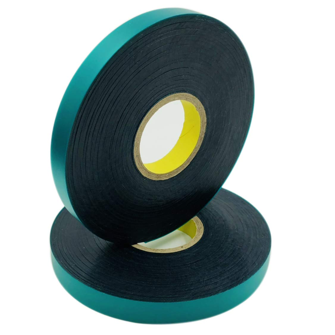 Ugold 8mil Thick 150 feet x 1/2'' Stretch Tie Tape Plant Ribbon Garden Green Vinyl Stake - 2 Pc