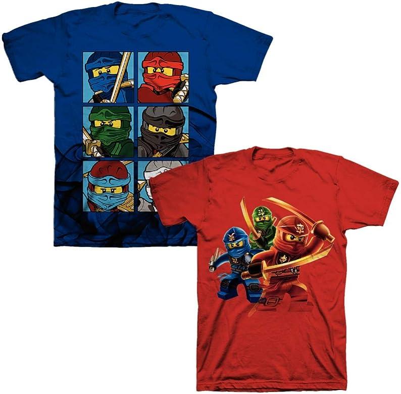 LEGO NINJAGO//RED NINJA-BOYS 7//8  /& 14-CHILDREN/'S PLACE-LICENSE SHORT SLEEVE-NWT