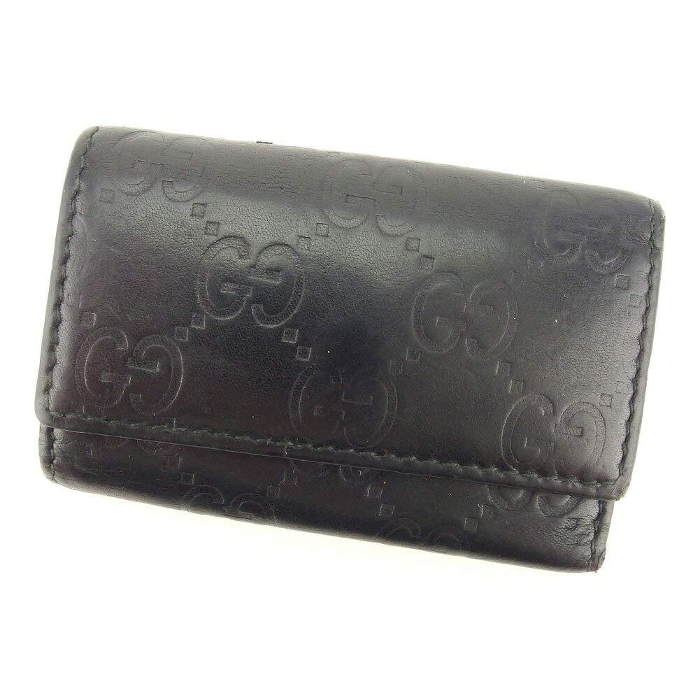 (グッチ) Gucci キーケース 6連キーケース ブラック ゴールド グッチシマ レディース メンズ 中古 S874   B07HMWDX9Q