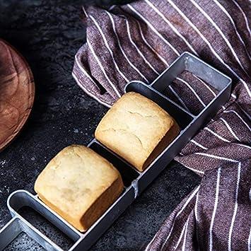 AaaSue Molde de aluminio rectangular para tartas, magdalenas, repostería, repostería, molde para molde de molde cuadrado Silvery: Amazon.es: Hogar