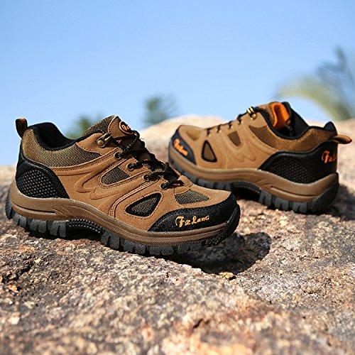 Botas de Senderismo Impermeables para Hombre,de ocio al Aire Libre Zapatos de Deporte Zapatillas de Senderismo Marrone