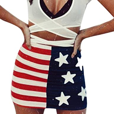 fb065c28fc52ee Amazon.com: Women's American Independence Day Skirt| Fashion US Flag Print  Skirt| Sexy Pencil Skirts: Clothing