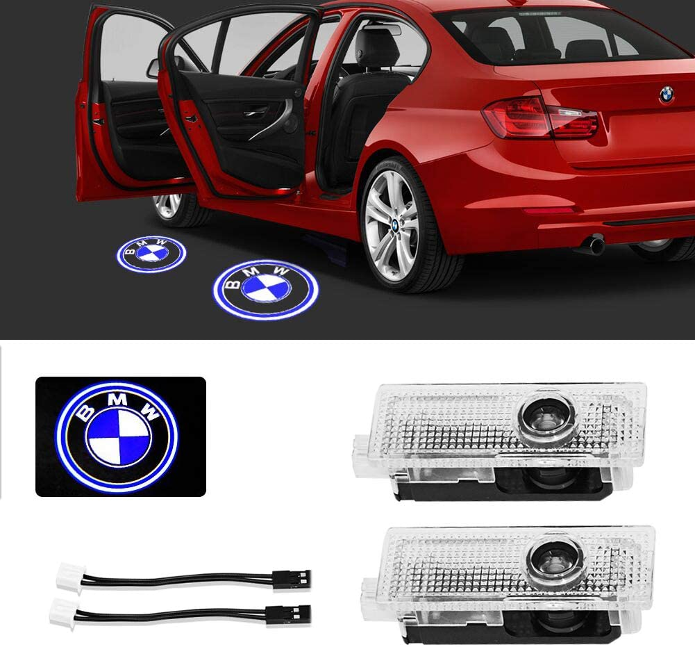 Meng Anna Car Led Door Light Logo Compatible with bmw 1 3 5 6 7 Z X1 X3 X5 X6 M Series Accessories Shadow Welcome Puddle Step Projector Under Door Lights Used for Decoration Lighting