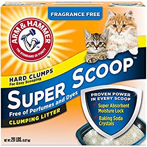 Arm & Hammer Super Scoop Litter, Unscented, 20 Lbs (Packaging May Vary) 28