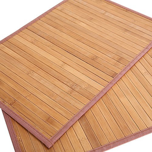 Marscool Placemat for Kitchen Table,Bamboo Placemat Stain-Resistant,Heat-Resistant Placemats Set of 4,Natural Bamboo Material,Table Mats and Dine Mats for Dining Table,Four Model Choices(Original) by Marscool (Image #4)