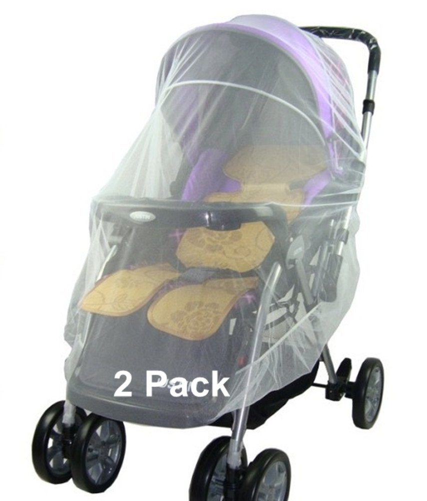 Skyseen 2 Pack Baby Mosquito Net for Strollers, Car Seats, Cradles, Carriers,White,Universal Size 59 Universal Size 59