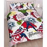 Marvel Avengers Mission Double Duvet Set & Matching 66' x 72' Curtains (168cm x 183cm)
