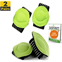 Fitbury 4Pcs Plantar Fasciitis Arch Supports & Free eBook, [2 Pairs] Flat Feet Insoles, Plantar Fasciitis Insoles, Plantar Fasciitis Supports, Helps Fallen Arches, Heel Pain & Back Pain