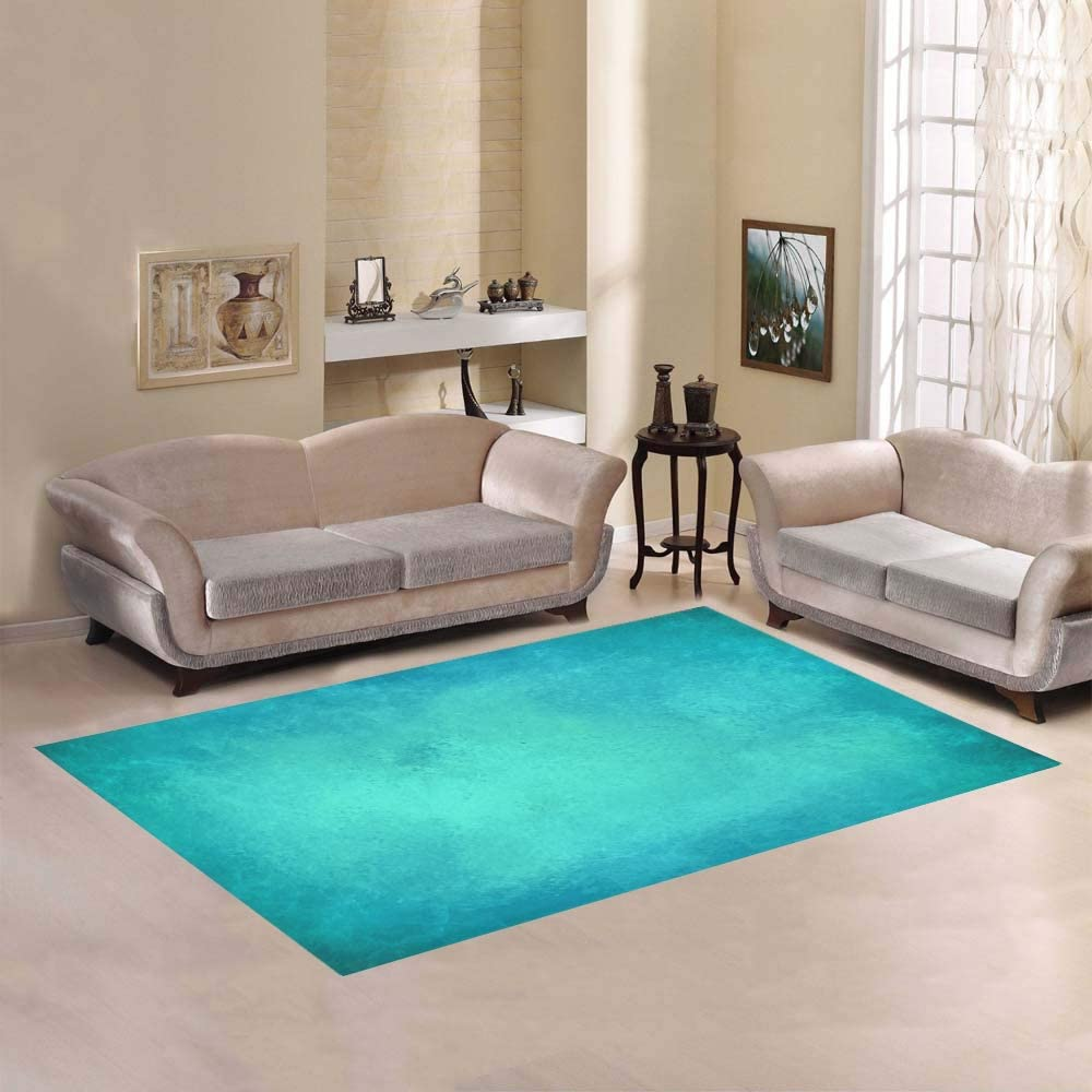 Enhusk Bleu Sarcelle Couleur Art Aquarelle Grand ...