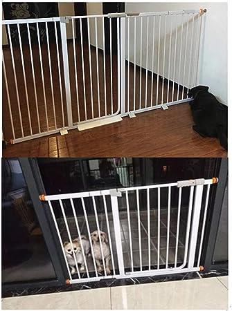 Valla Seguridad Barreras de puerta Ampliable Presión Bebé Puertas De Seguridad Con El Monte Pasamano De La Escalera For Mascotas Cerca De Aislamiento Interior De La Puerta De Cierre Automático For Mas: