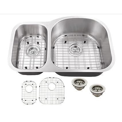 IPT Sink Company Undermount 32 in. 16-Gauge Stainless Steel Kitchen ...