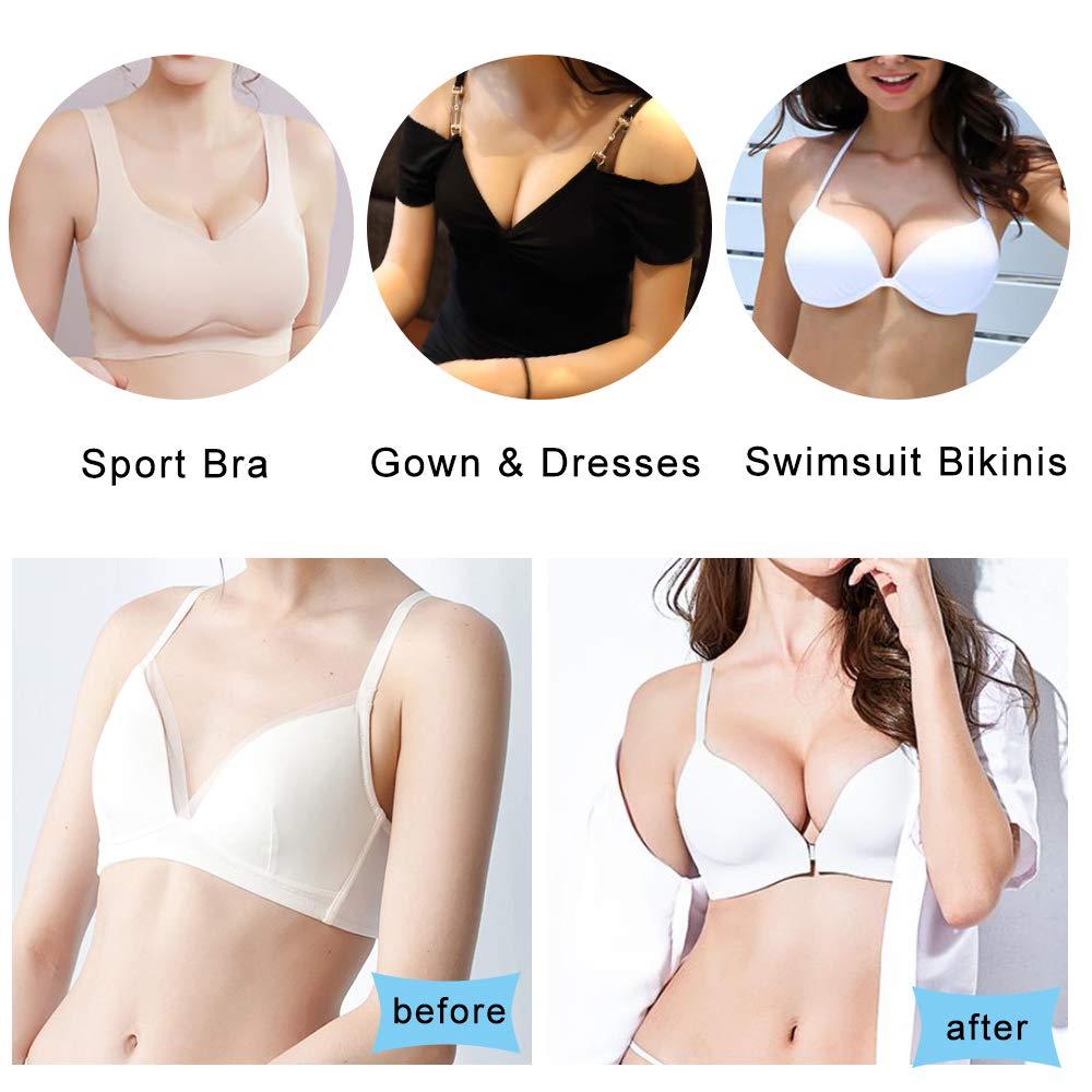 forma triangular para mujer Hicdaw 8 pares de almohadillas para sujetador negro, beige insertos para sujetador deportivo