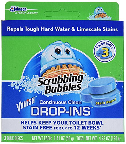Scrubbing Bubbles Toilet Cleaner Drop Ins 3 ct, (Pack of 6)