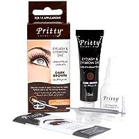 Pritty Eyelash and Eyebrow Dye Kit, Dark Brown