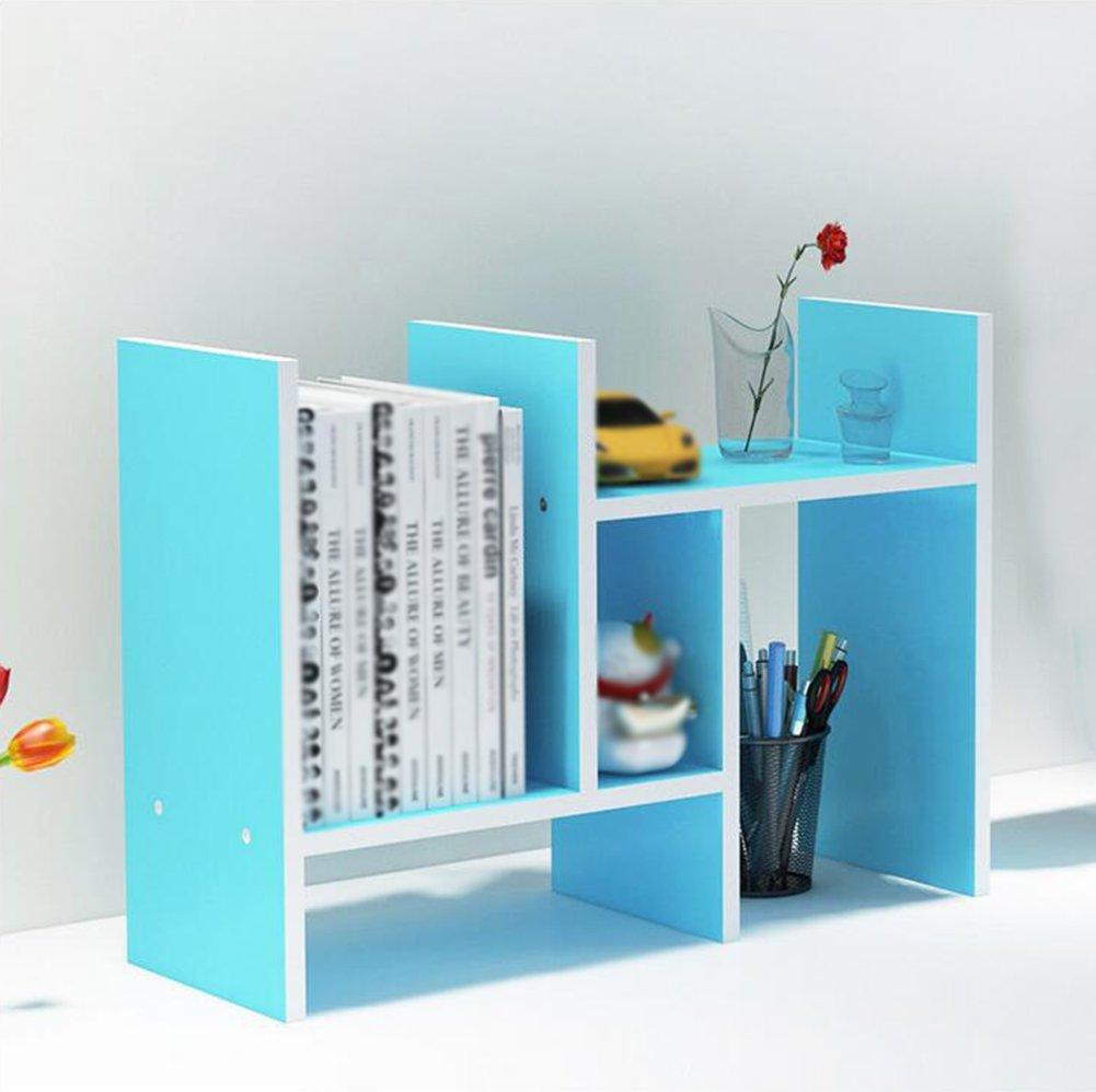 Utility Racks Creative retractable shelf racks desktop bookcase children simple desktop storage rack small bookshelf office combo ( Color : 2 )