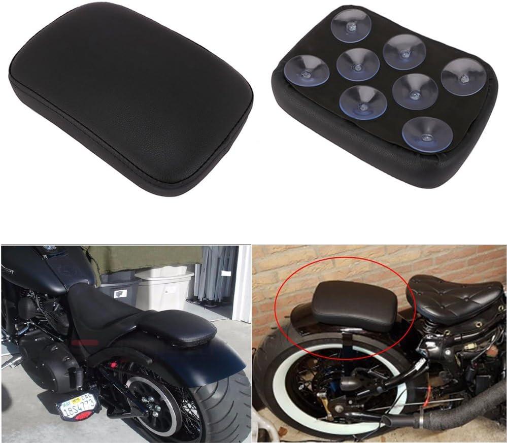 Sedile rettangolare imbottito per passeggero con 8/ventose per Harley Chopper//Cruiser; colore nero