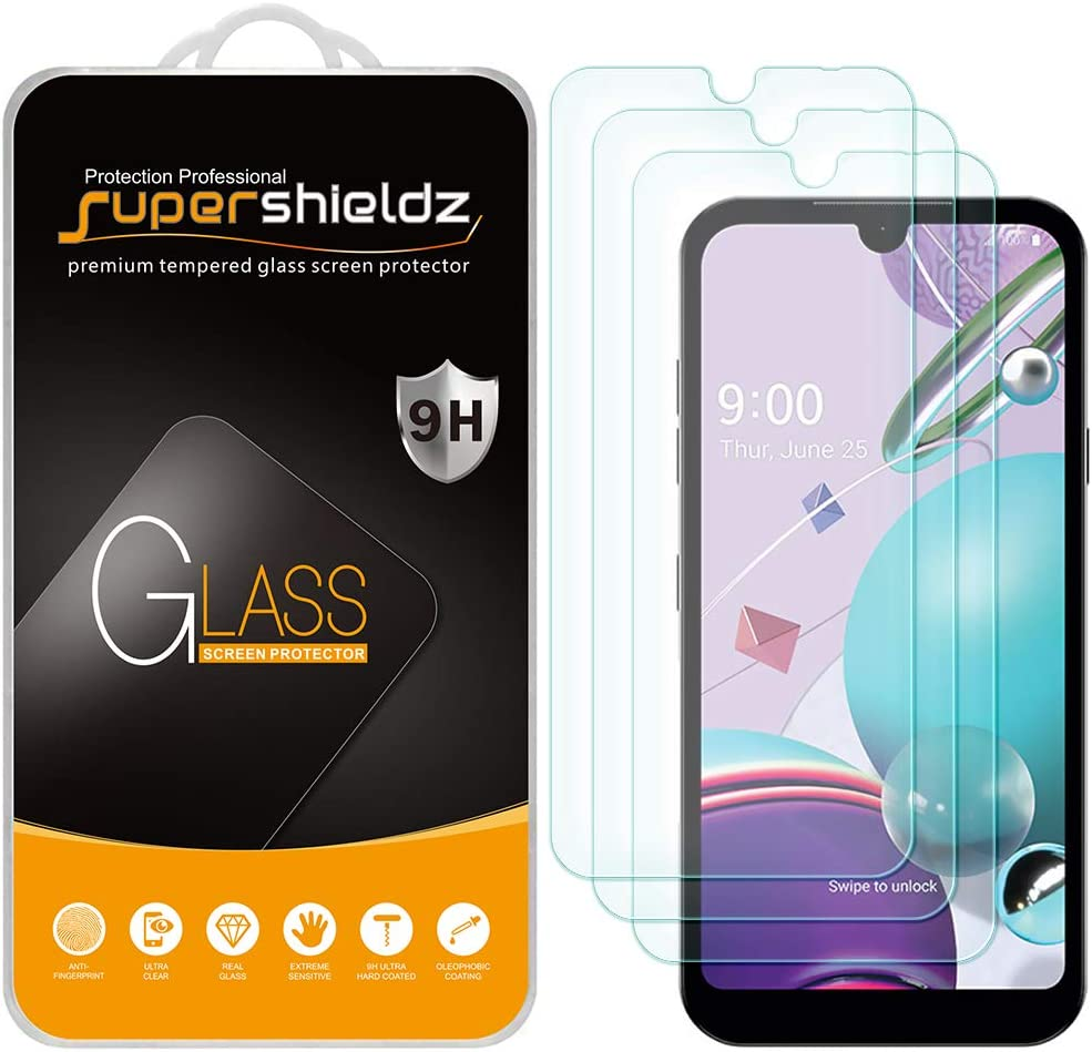 (3 Pack) Supershieldz for LG K8X Tempered Glass Screen Protector, Anti Scratch, Bubble Free