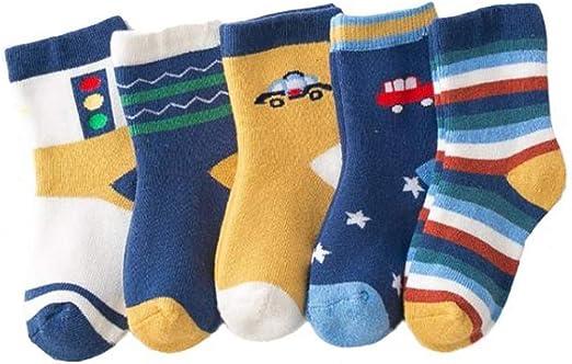 Suit for 1-10 Years old Kids,DIGOOD Boys Girls 5 Pairs Star Print Cotton Knitting Warm Socks