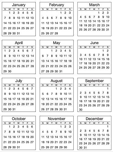 SRM Stickers 2018 Mini Calendar Standard, 6 3/4