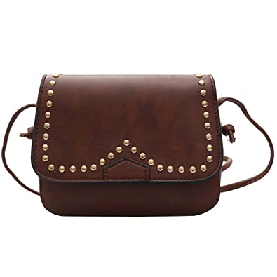 72e164a1a7 Jili Online New Fashion Women Small Square Chain Shoulder Handbag Messenger Crossbody  Bag - Dark Brown