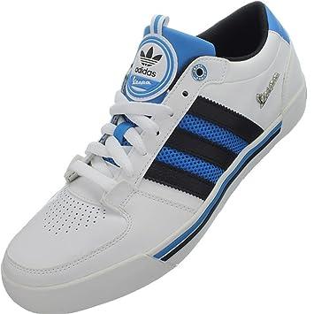 648817fb38b Adidas Vespa LX LO Zapatillas Sneakers Cuero Blanco Negro BLU para Hombre   Amazon.es  Deportes y aire libre