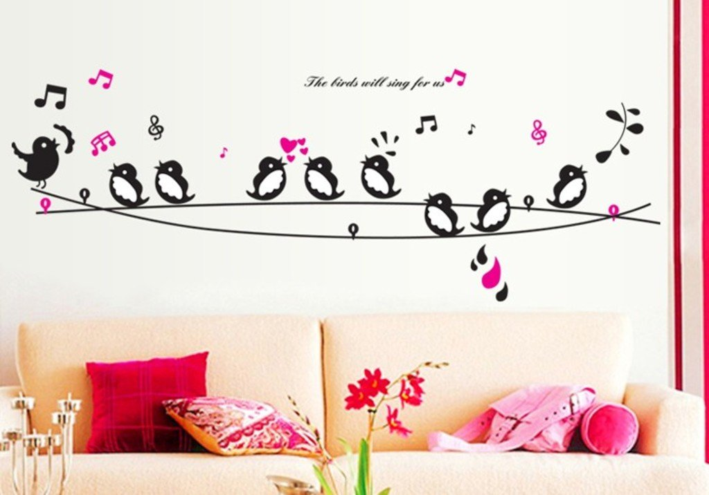 Captivating Buy Decals Design U0027Cute Singing Birdsu0027 Wall Sticker (PVC Vinyl, 50 Cm X 70  Cm) Online At Low Prices In India   Amazon.in