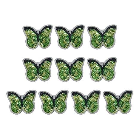 Scrox 1pcs Bordados para Ropa Patch Colorido Lentejuelas Mariposa Sticker Parches Bordados DIY Encajes Accesorios Decorativos