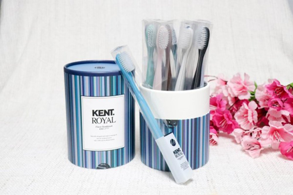 [KENT Royal] Finest Soft Toothbrush Pack of 12, With NEW Design & Color - Micro Thin Bristles, Anti-bacterial, BPA Free for Sensitive Gums and Teeth