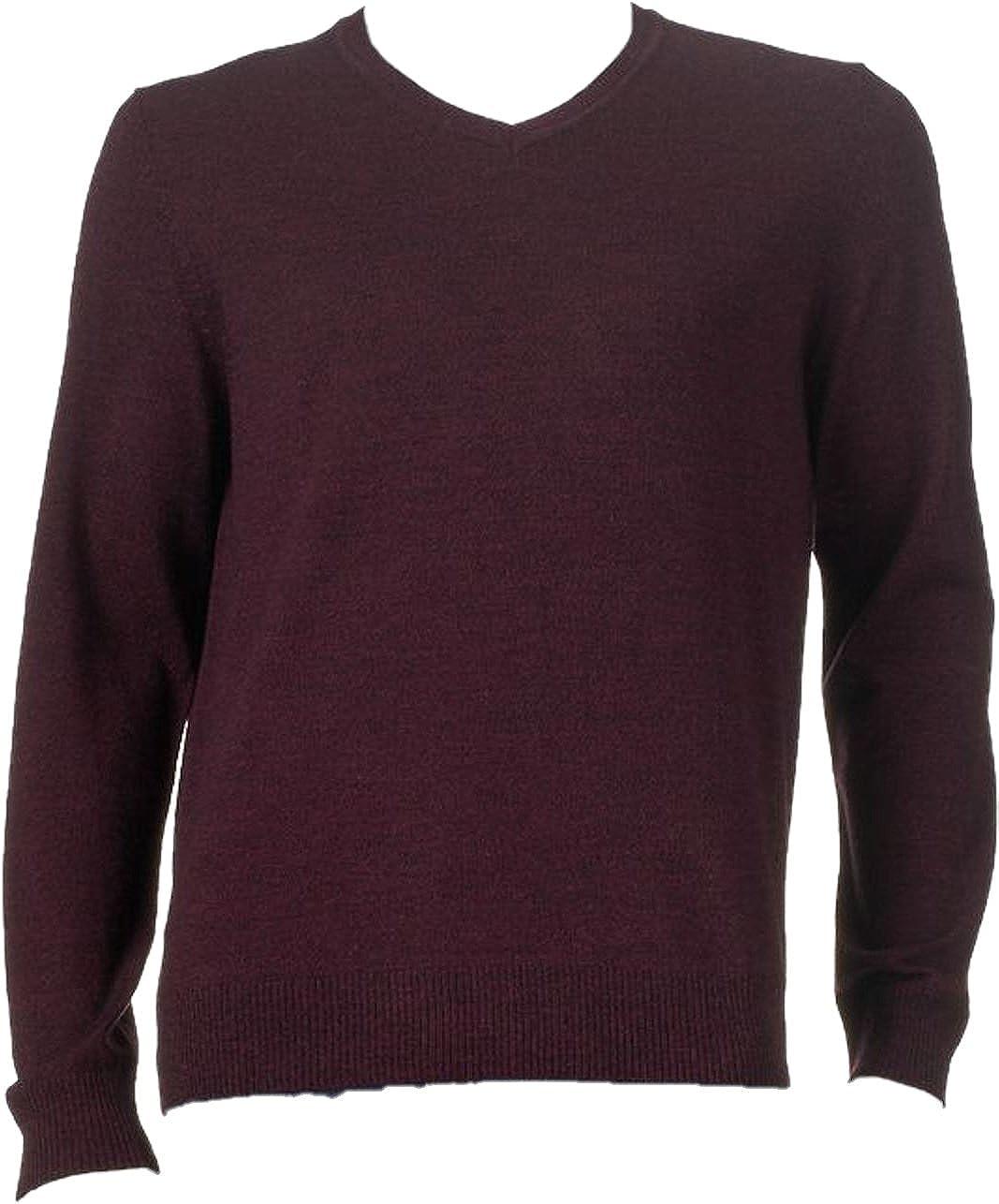 Apt 9 Mens Big /& Tall Modern Fit Merino V-Neck Sweater
