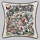 Massachusetts State Pillow by Catstudio