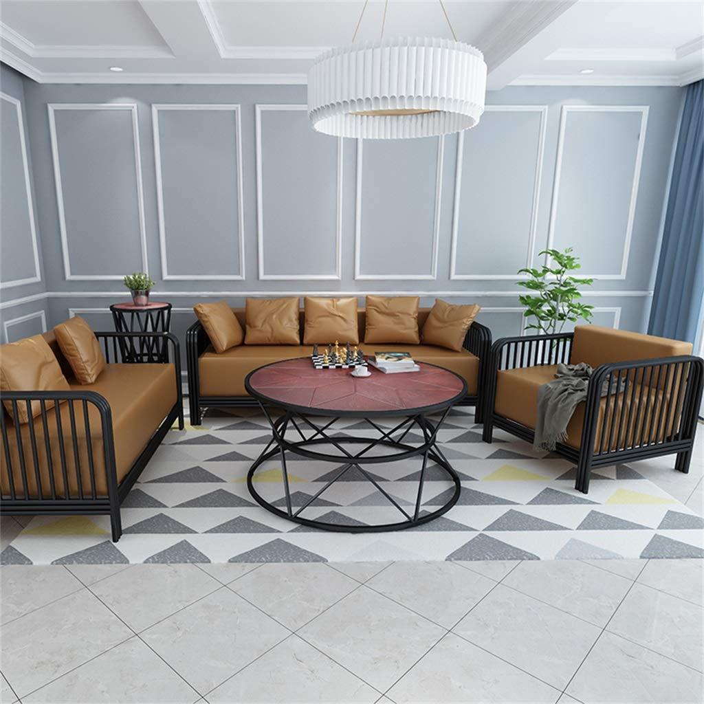 Amazon.com: Mesa de café para salón, panel de nogal, marco ...