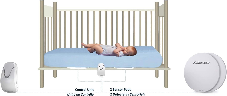 Le moniteur pour b/éb/é original sans contact et m/édicalement certifi/é BabySense Le nouveau moniteur de mouvement respiratoire pour b/éb/é sous le matelas 7 avec 2 coussinets de capteur