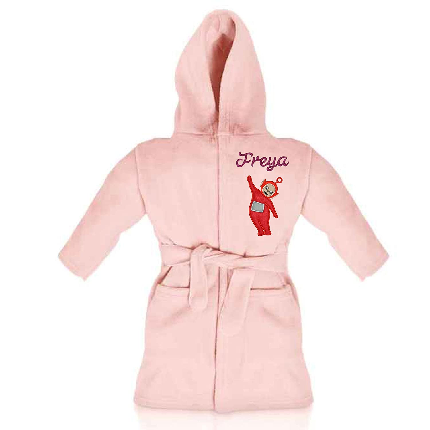 Oh Sew Simple Po (Teletubbies) Personalised Fleece Dressing Gown/Bathrobe (Pink) Teletubbies - Po