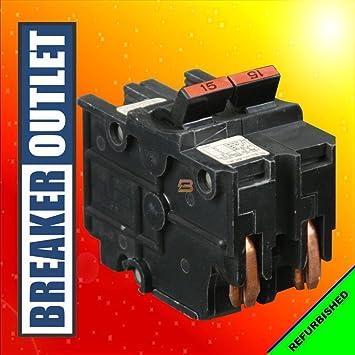 Federal Pacific 0215 15 Amp 2 Pole Stab-Lok Circuit Breaker