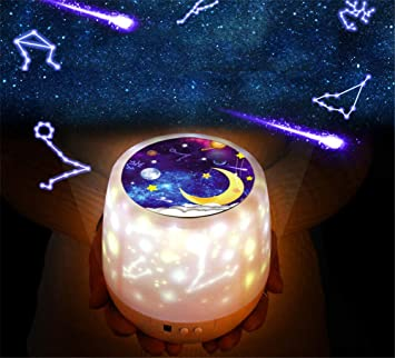 Amazon.com: Lámpara de proyector giratoria de 360 grados con ...