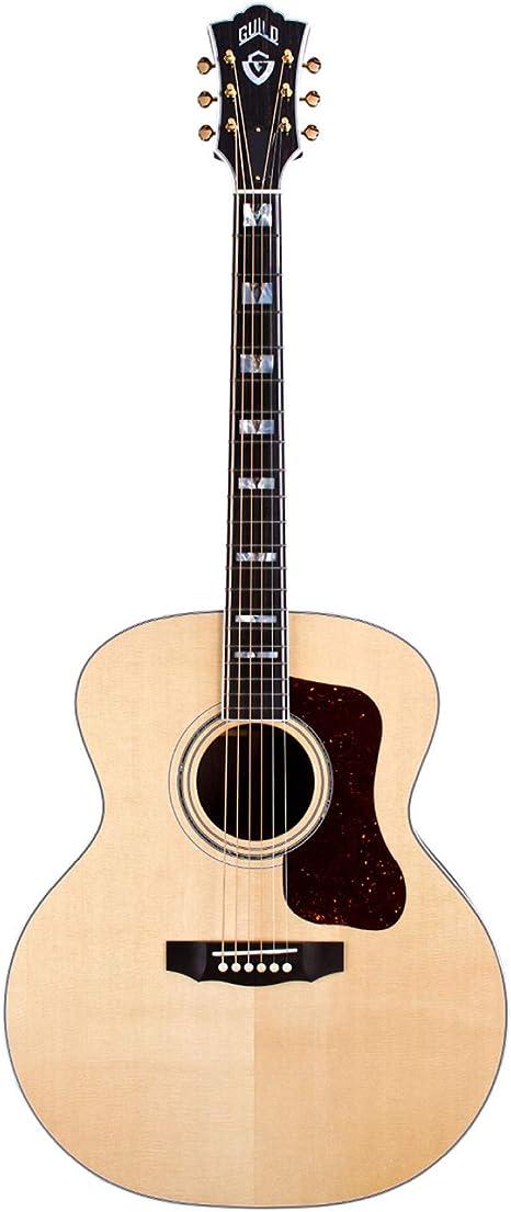 Guild F-55 Jumbo - Guitarra de modelo, acabado natural, con funda ...